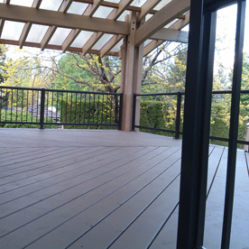 Deck with Iron Railings